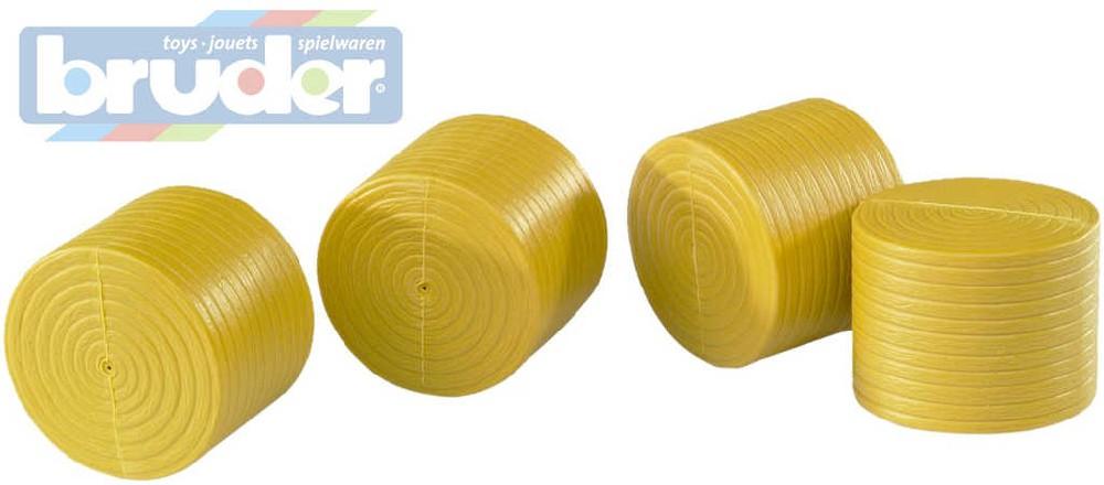 BRUDER 02344 (2344) Balík kulatý žlutý pro č. 2121 - 4 ks