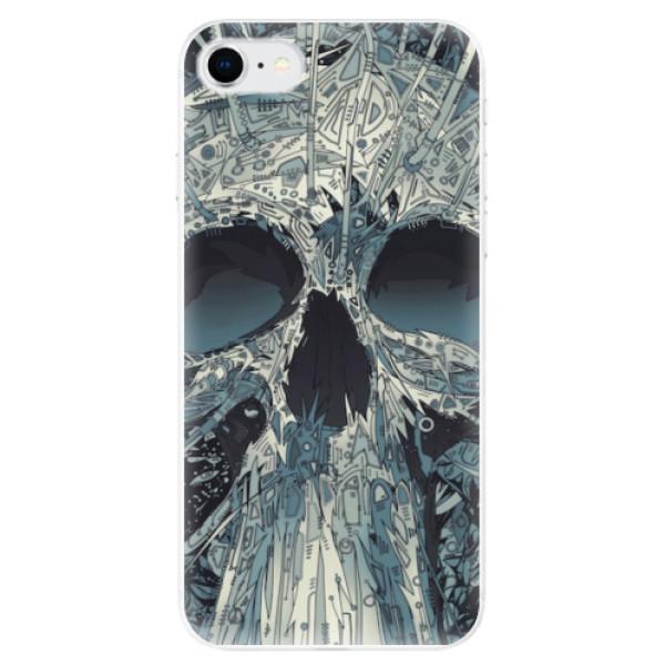 Odolné silikonové pouzdro iSaprio - Abstract Skull - iPhone SE 2020