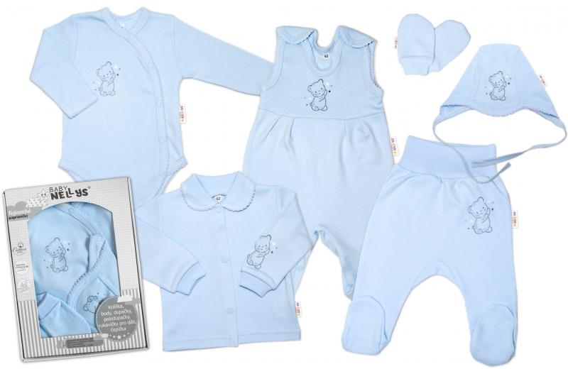 baby-nellys-velka-sada-do-porodnice-teddy-6-ti-dilna-v-krabicce-modra-50-0-1m