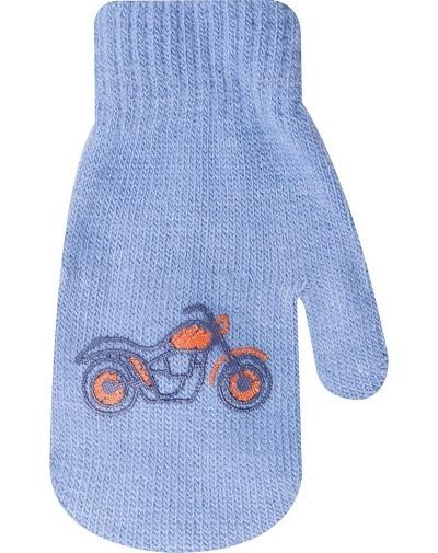 YO ! Kojenecké chlapecké akrylové rukavičky YO - modré - 12cm rukavičky