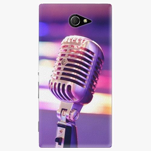Plastový kryt iSaprio - Vintage Microphone - Sony Xperia M2