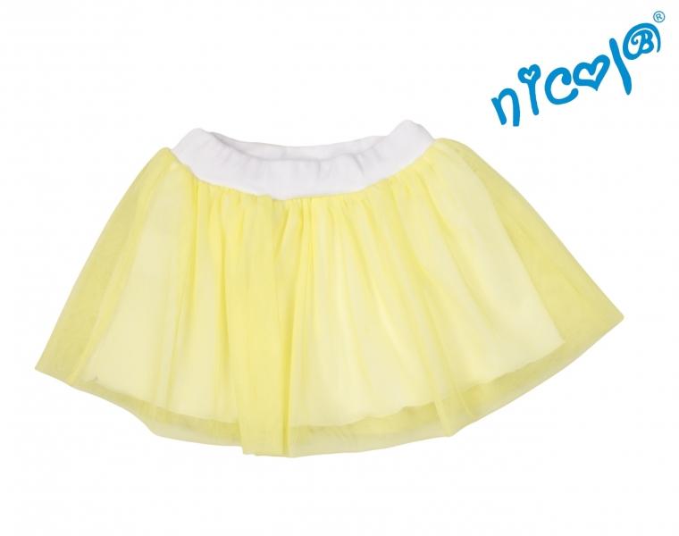 Dětská sukně Nicol, Mořská víla - žlutá, vel.