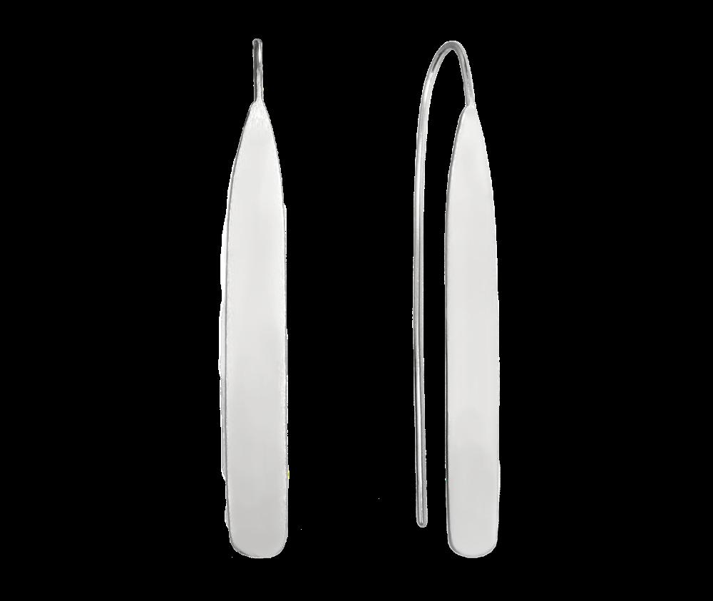 Luxusní lesklé stříbrné náušnice