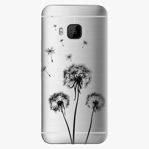 Plastový kryt iSaprio - Three Dandelions - black - HTC One M9