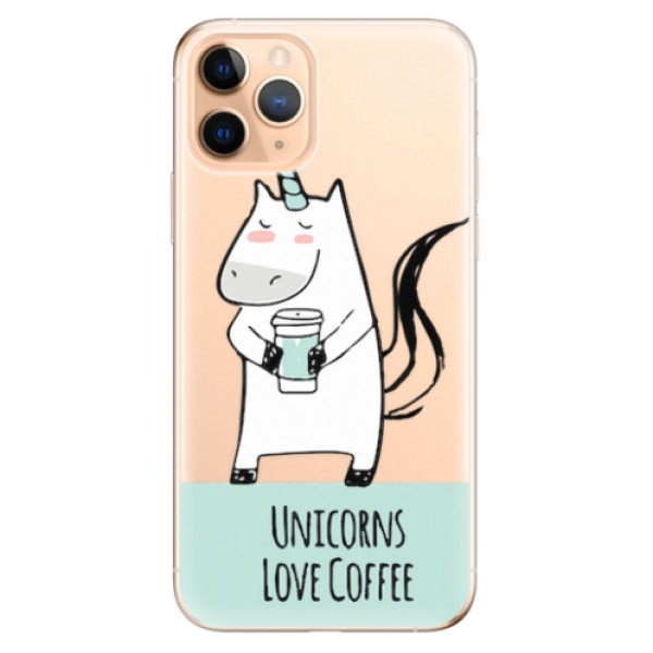 Odolné silikonové pouzdro iSaprio - Unicorns Love Coffee - iPhone 11 Pro