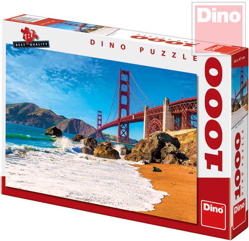 DINO Puzzle 1000 dílků Most Golden Gate 66x47cm skládačka v krabici