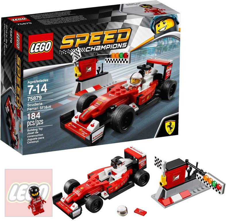 LEGO SPEED CHAMPIONS Scuderia Ferrari SF16-H 75879 STAVEBNICE
