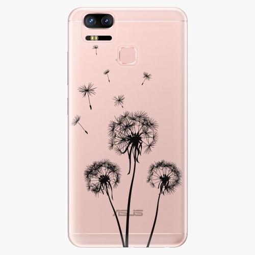 Plastový kryt iSaprio - Three Dandelions - black - Asus ZenFone 3 Zoom ZE553KL