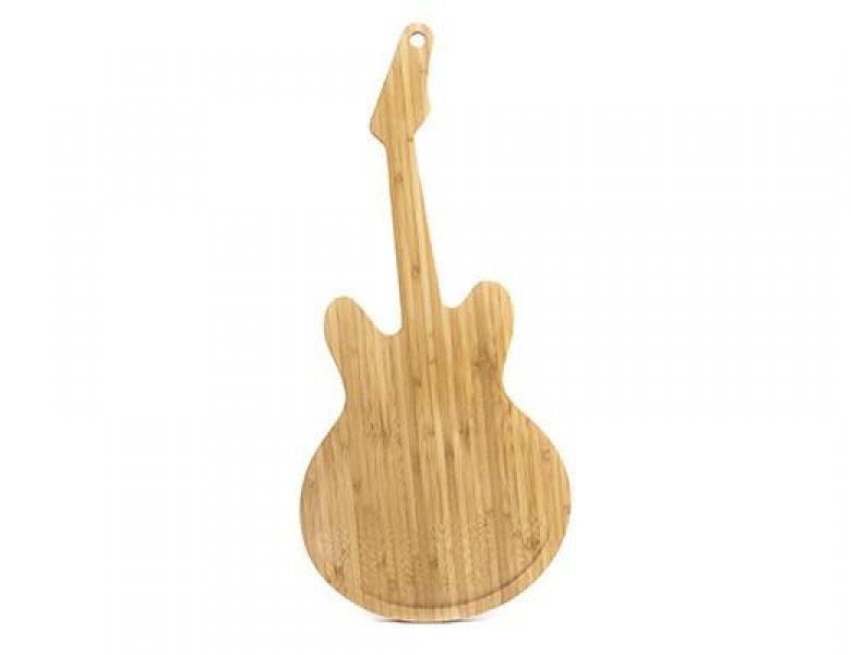 Dřevěné prkénko ve tvaru kytary