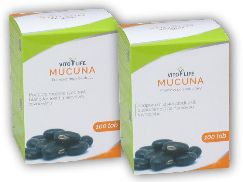 2x Mucuna Pruriens 100 kapslí