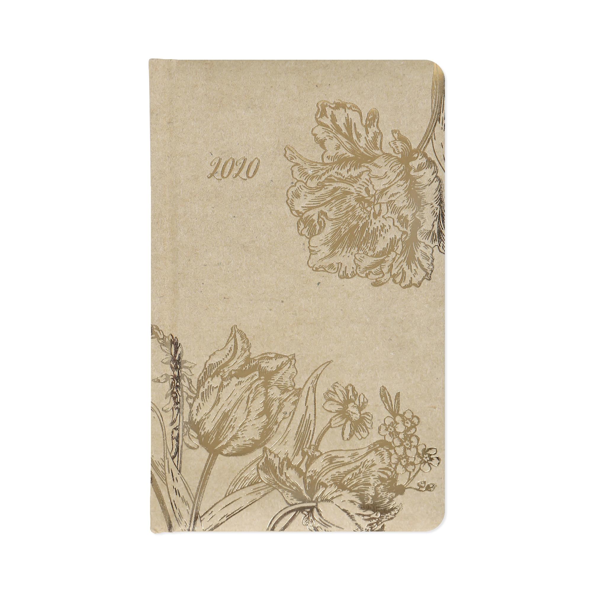ALBI Kapesní diář - Zlaté květiny