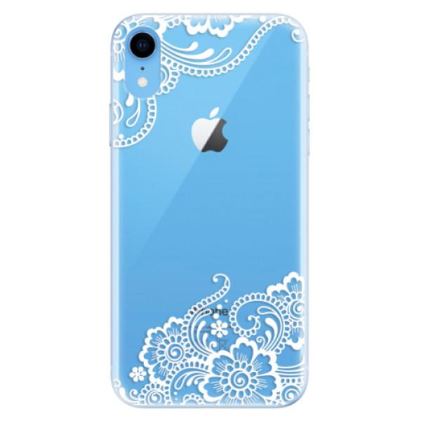 Odolné silikonové pouzdro iSaprio - White Lace 02 - iPhone XR
