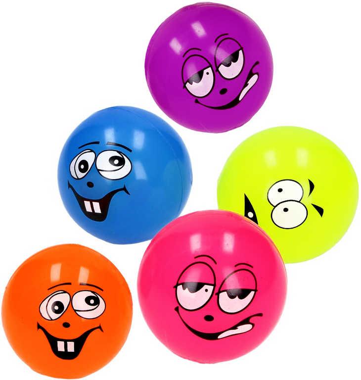Hopík 6,5cm (skákací míček) skákačák smajlík obličej 6 barev