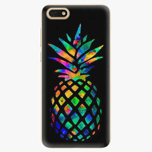 Silikonové pouzdro iSaprio - Rainbow Pineapple - Huawei Honor 7S