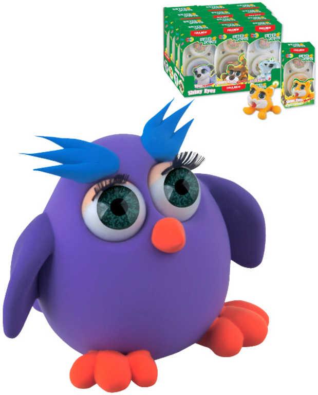 Paulinda Zvířátka velké oči samotvrdnoucí plastelína set 2 kelímky 6 druhů