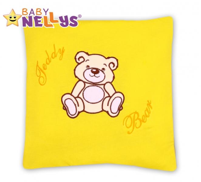 Polštářek 40x40 Teddy Bear - žlutý