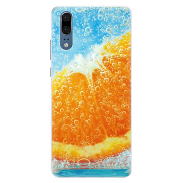 Silikonové pouzdro iSaprio - Orange Water - Huawei P20