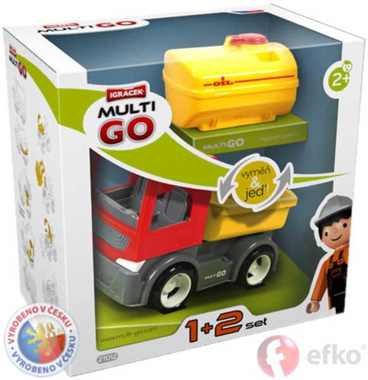 EFKO IGRÁČEK MultiGO 1+2 Cisterna set s doplňky v krabičce