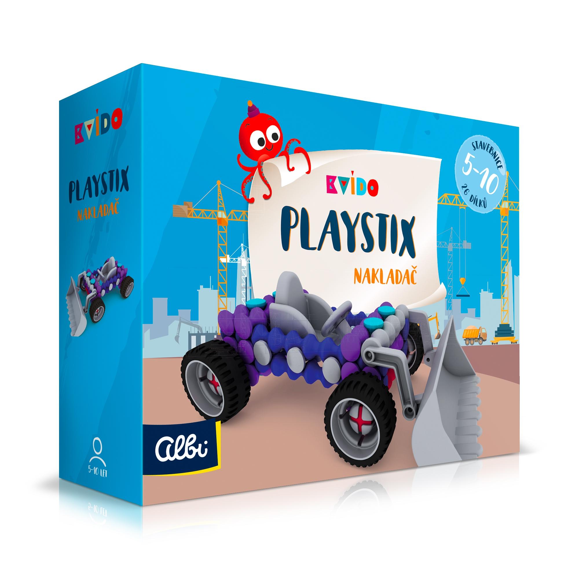Kvído - Stavebnice Playstix - nakladač 26 dílků