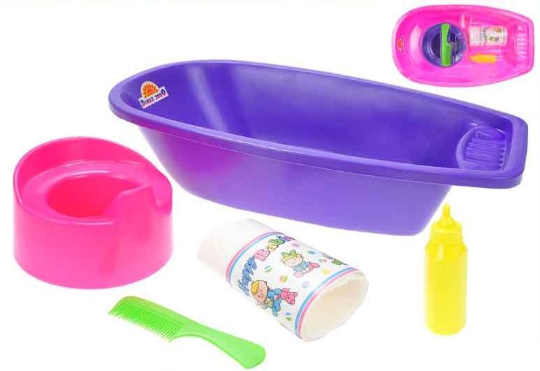 MAD Baby set pro panenky vanička a nočník s doplňky plast 2 barvy
