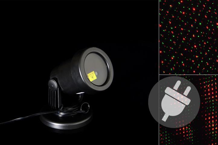 Venkovní LED projektor - červená a zelená - dosah 3 - 12 m