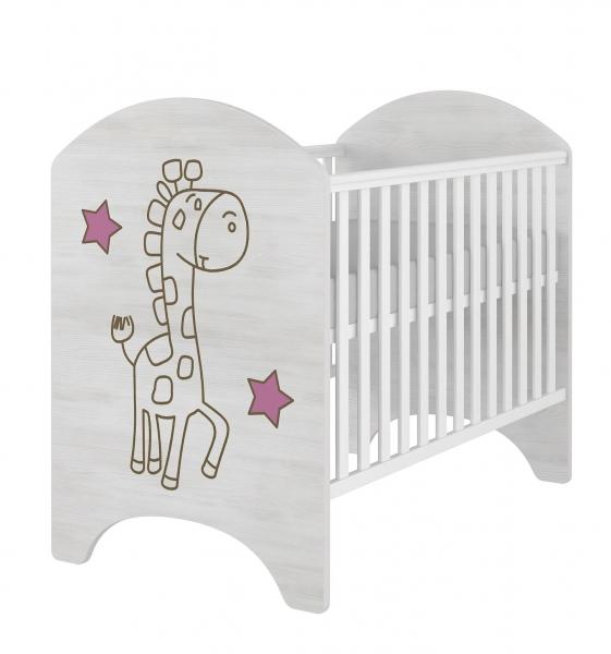 babyboo-detska-postylka-lux-zirafka-ruzova-120x60cm-gravirovany-obrazek