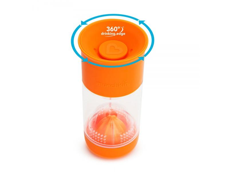 Munchkin - Netekoucí hrnek s infuzérem 414 ml - oranžový