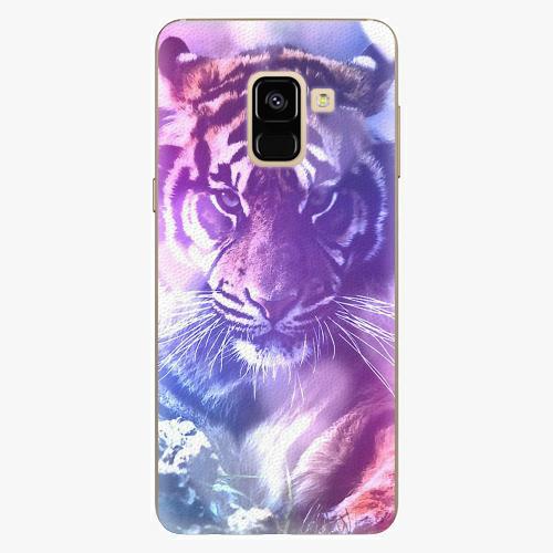 Plastový kryt iSaprio - Purple Tiger - Samsung Galaxy A8 2018
