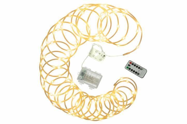 Vánoční LED osvětlení - MINI kabel - 10 m teple bílé