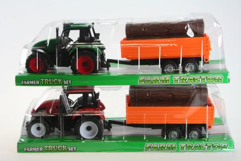 Traktor s kládami