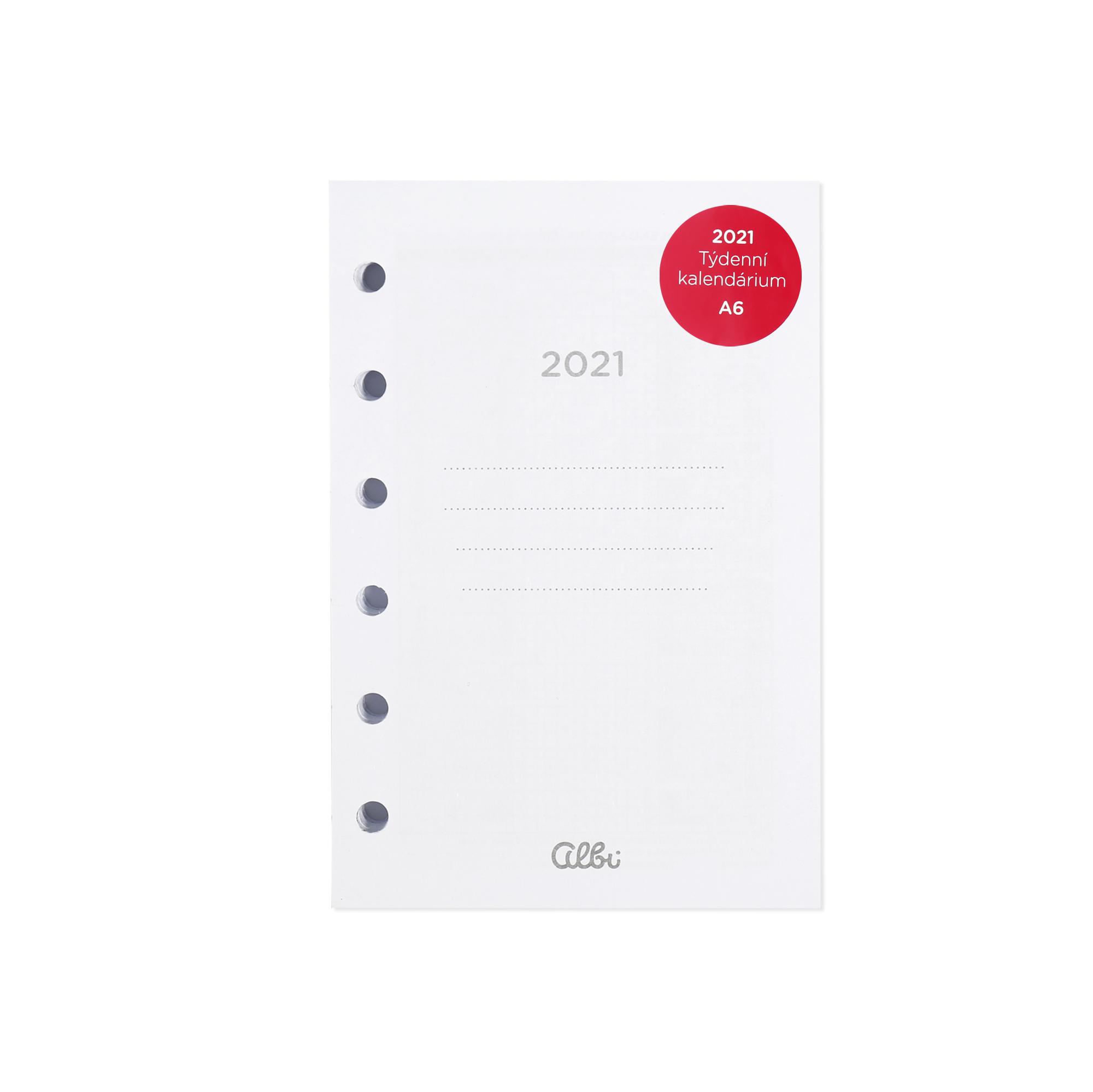 Kalendárium 2021 pro Manažerský diář A6