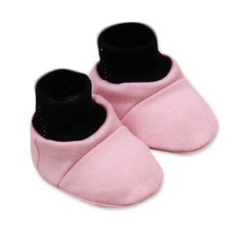 Botičky/ponožtičky, Little princess bavlna - růžovo/šedé - 0/6 měsíců