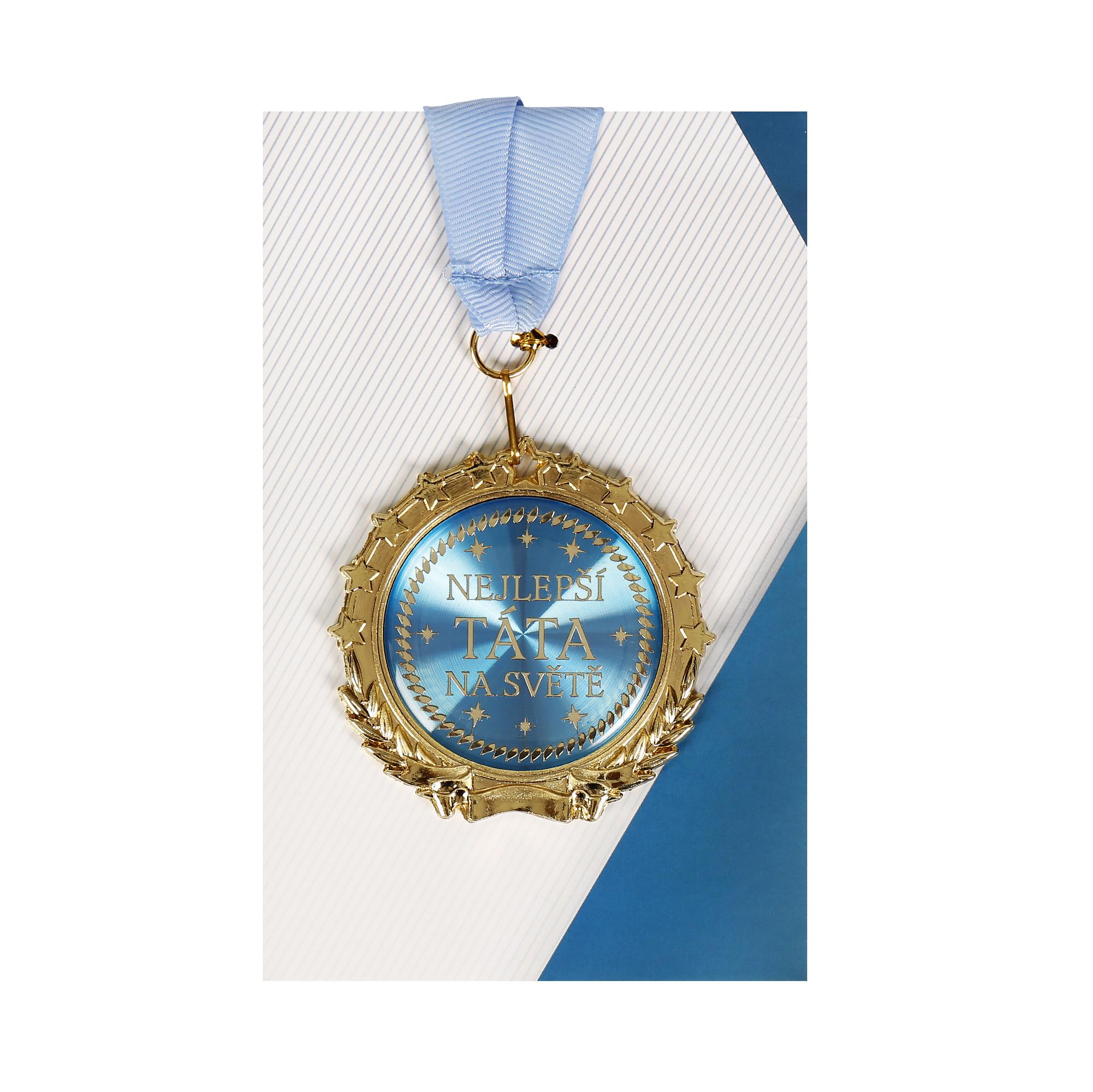 Přání s medailí - Táta
