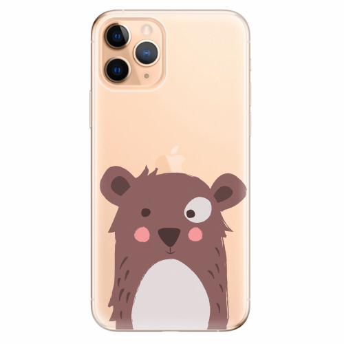 Silikonové pouzdro iSaprio - Brown Bear - iPhone 11 Pro