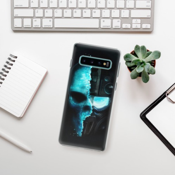 Plastové pouzdro iSaprio - Roboskull - Samsung Galaxy S10