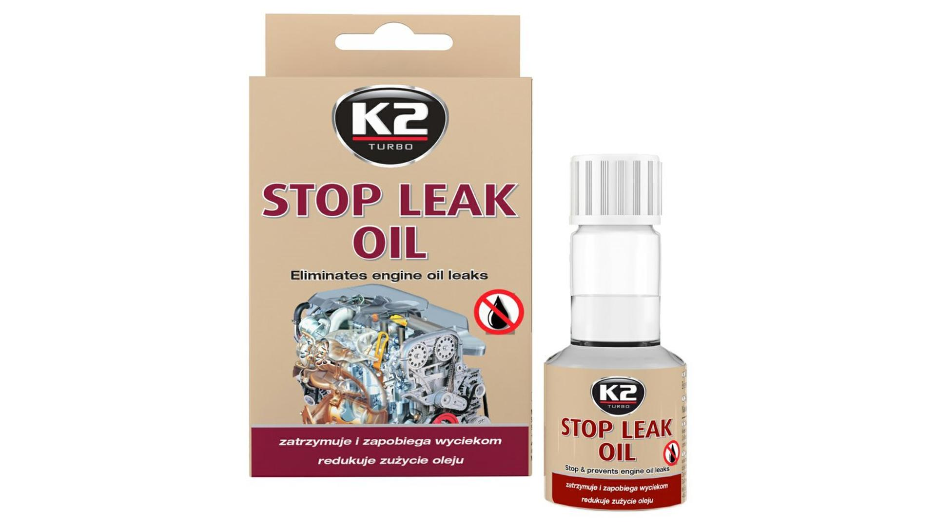 K2 STOP LEAK OIL 50ml - zamezuje únikům oleje z motoru