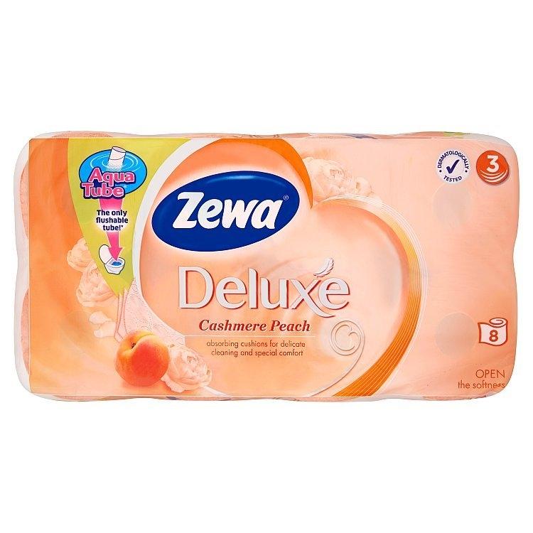 Deluxe Cashmere peach toaletní papír parfémovaný, 3-vrstvý, 8 ks