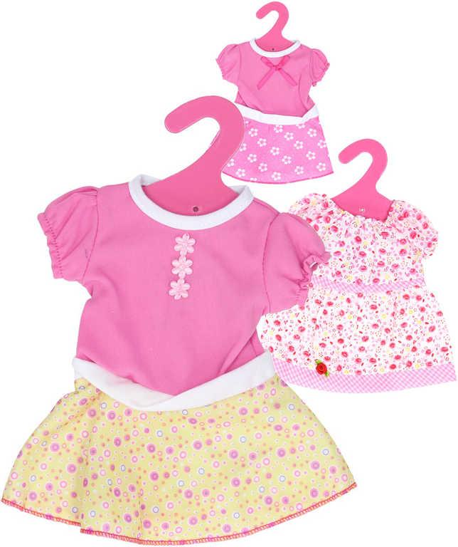 Šatičky obleček pro panenku 40-45cm na ramínku 6 druhů