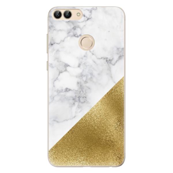 Odolné silikonové pouzdro iSaprio - Gold and WH Marble - Huawei P Smart