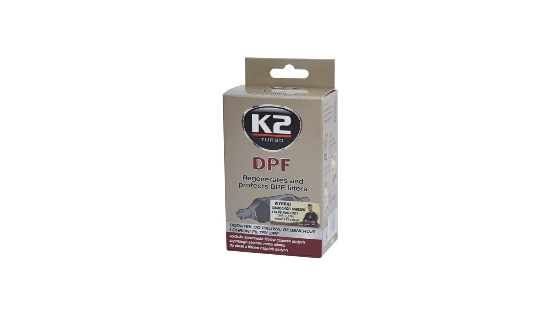 K2 DPF 50ml - přídavek do paliva, regeneruje a chrání filtry