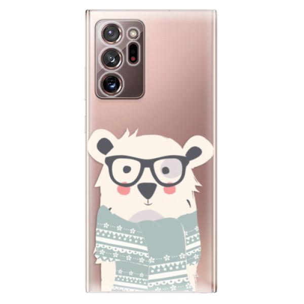 Odolné silikonové pouzdro iSaprio - Bear with Scarf - Samsung Galaxy Note 20 Ultra