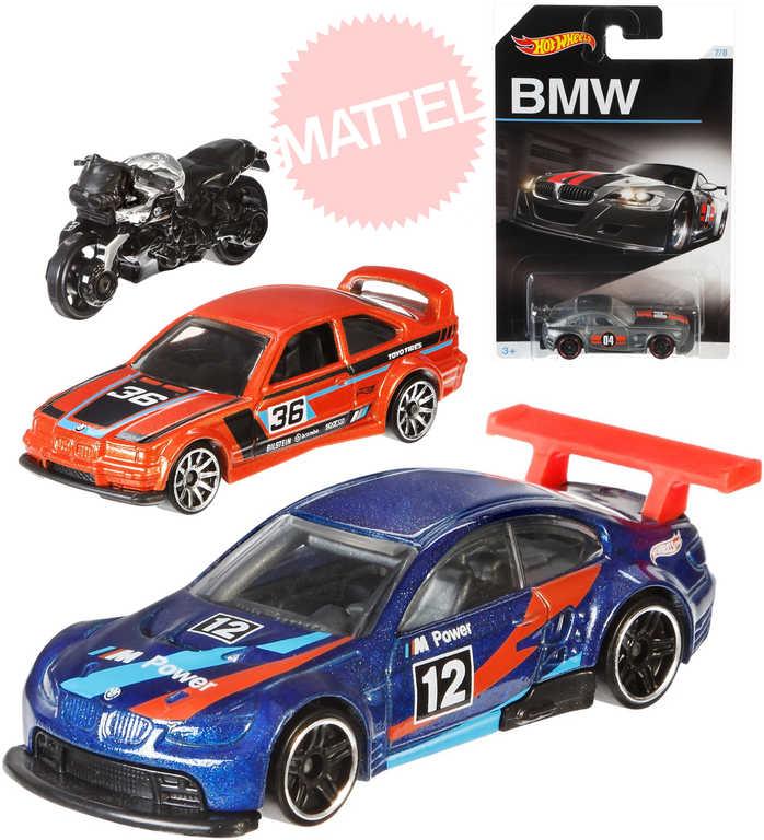 MATTEL HOT WHEELS Auto angličák BMW závodnička 1:64 - 8 druhů