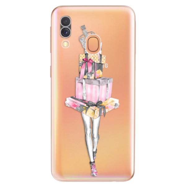 Odolné silikonové pouzdro iSaprio - Queen of Shopping - Samsung Galaxy A40