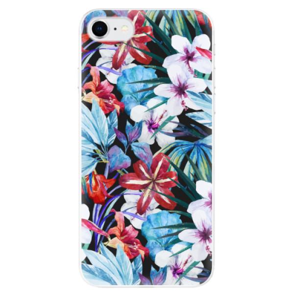 Odolné silikonové pouzdro iSaprio - Tropical Flowers 05 - iPhone SE 2020