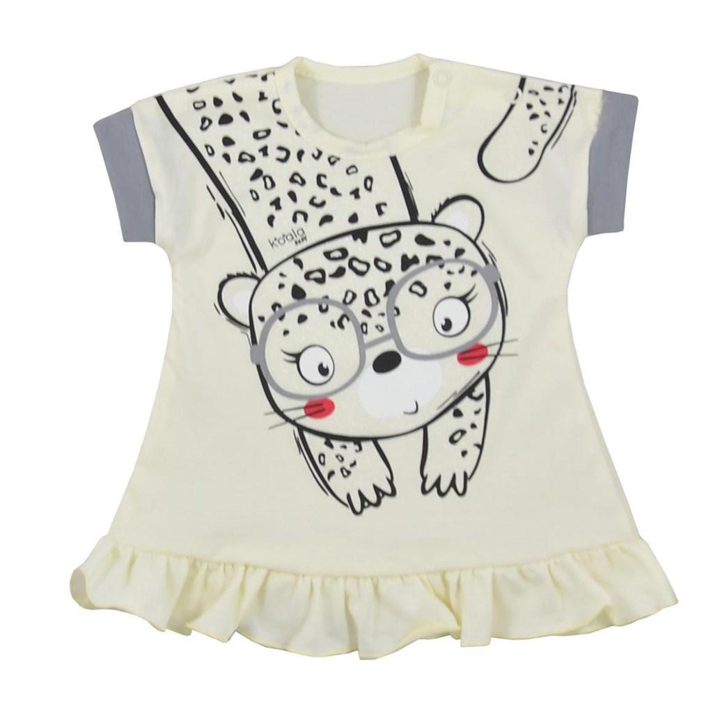 Kojenecké letní šaty Koala Sara - béžová/62 (3-6m)