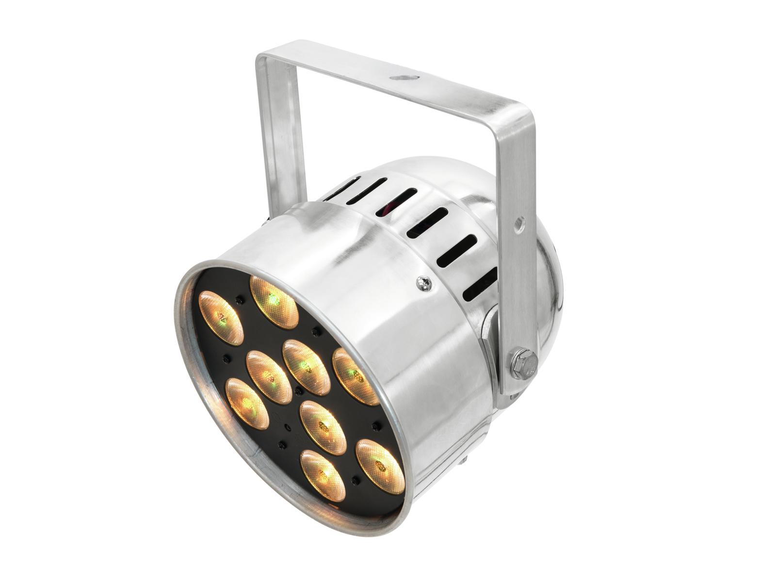Eurolite LED PAR-56, 9x10W HCL, krátký stříbrný
