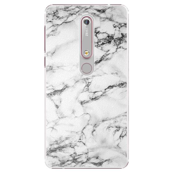 Plastové pouzdro iSaprio - White Marble 01 - Nokia 6.1