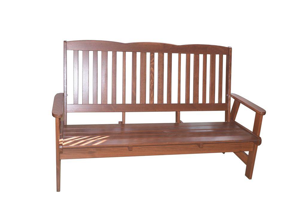 Zahradní dřevěná lavice LUISA třímístná