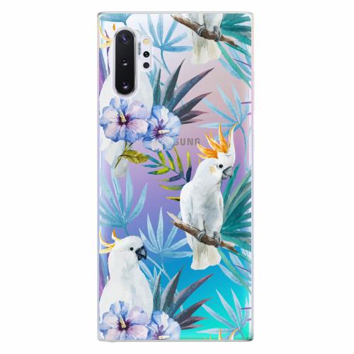Silikonové pouzdro iSaprio - Parrot Pattern 01 - Samsung Galaxy Note 10+