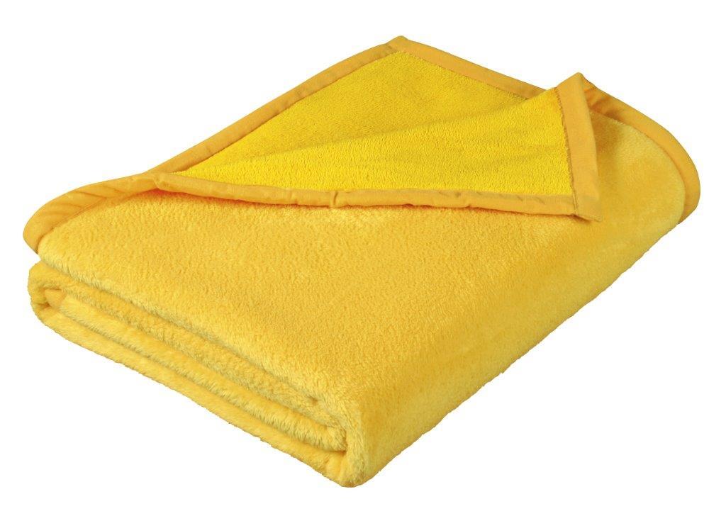 Dětská micro deka 100x150cm žlutá